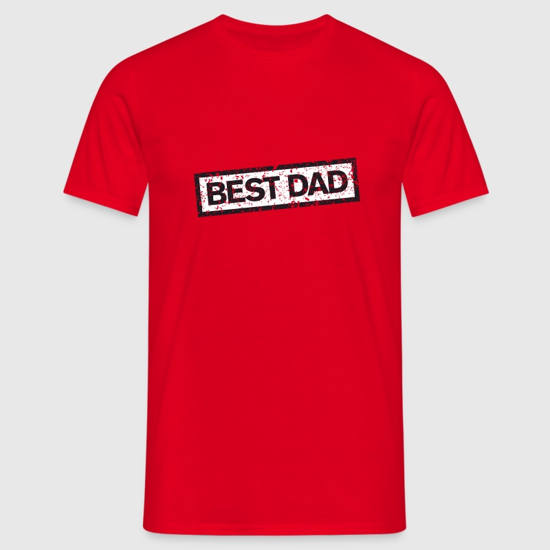 Best Dad Stamp T-Shirts - Men's T-Shirt