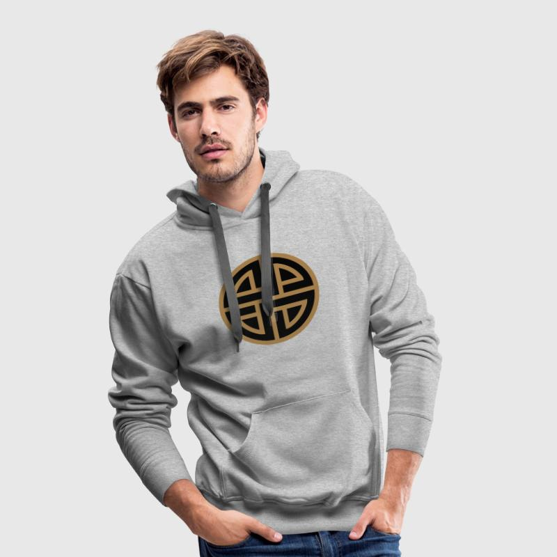 Viking Celtic shield knot, Protection Amulet, Hoodies & Sweatshirts - Men's Premium Hoodie