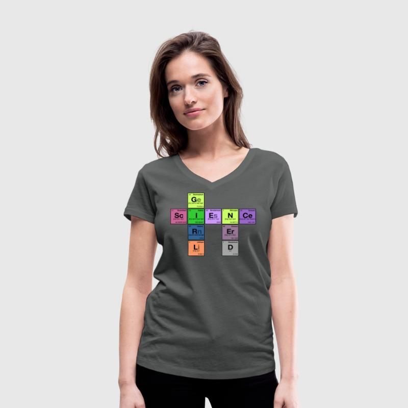 NERD SCIENCE GIRL! - Periodic Elements Scramble T-Shirt - Women's Organic V-Neck T-Shirt by Stanley & Stella