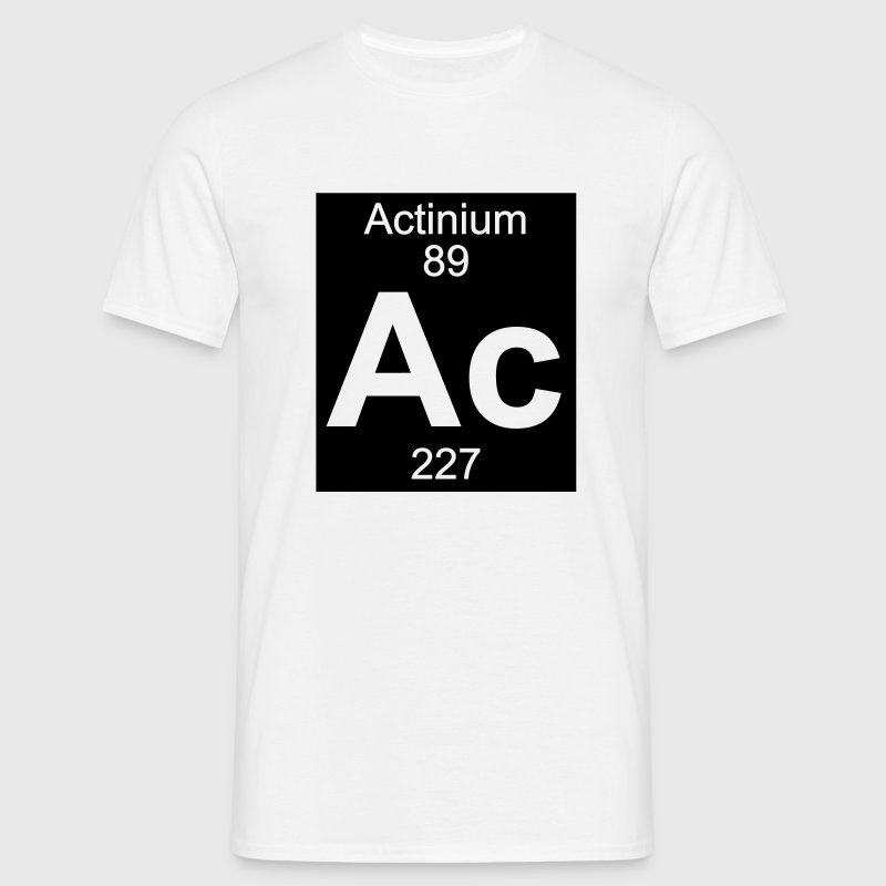 Actinium (Ac) (element 89) - Men's T-Shirt