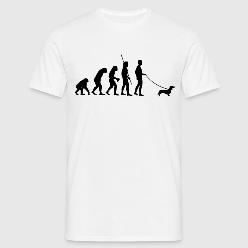 Evolution Dackel Shirt - Männer T-Shirt