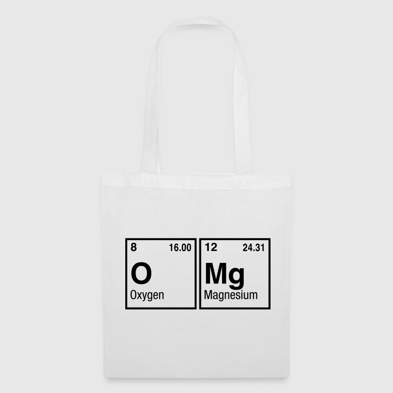 OMg written with Elements of the Periodic Table Bags & backpacks - Tote Bag