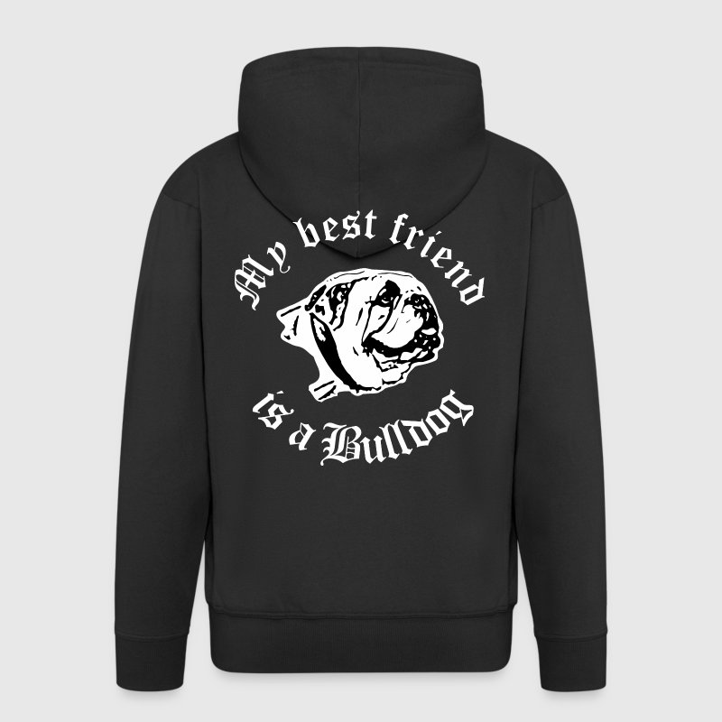 best friend english bulldog Pullover & Hoodies - Männer Premium Kapuzenjacke