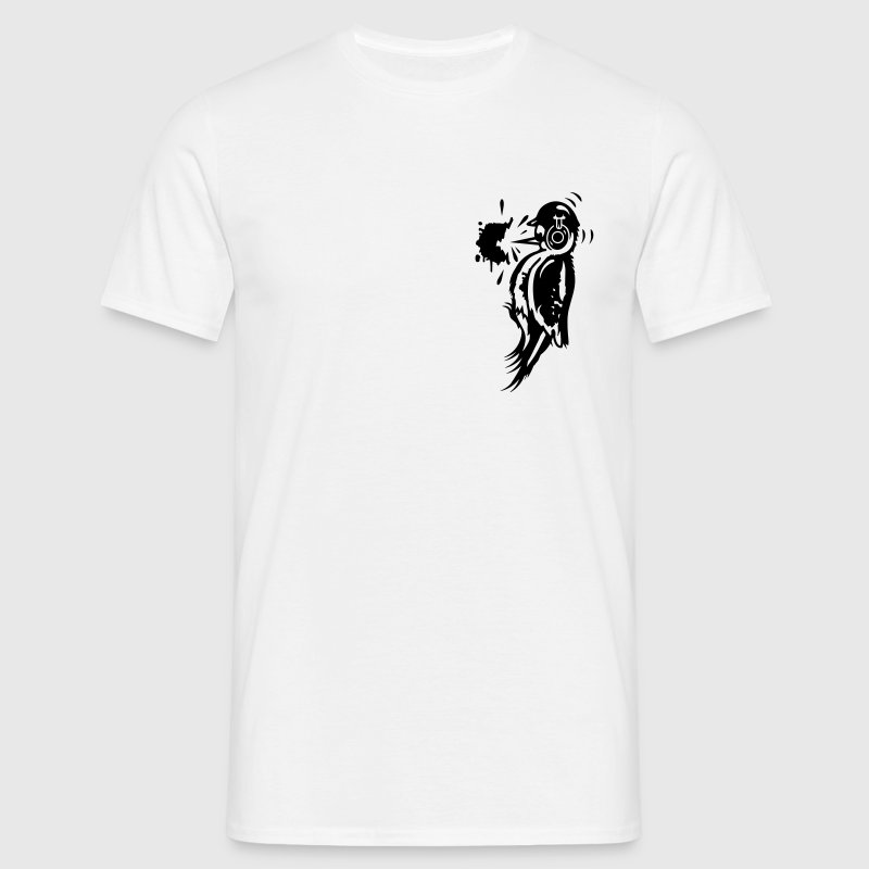 A woodpecker with a helmet and ear protection T-Shirts - Men's T-Shirt