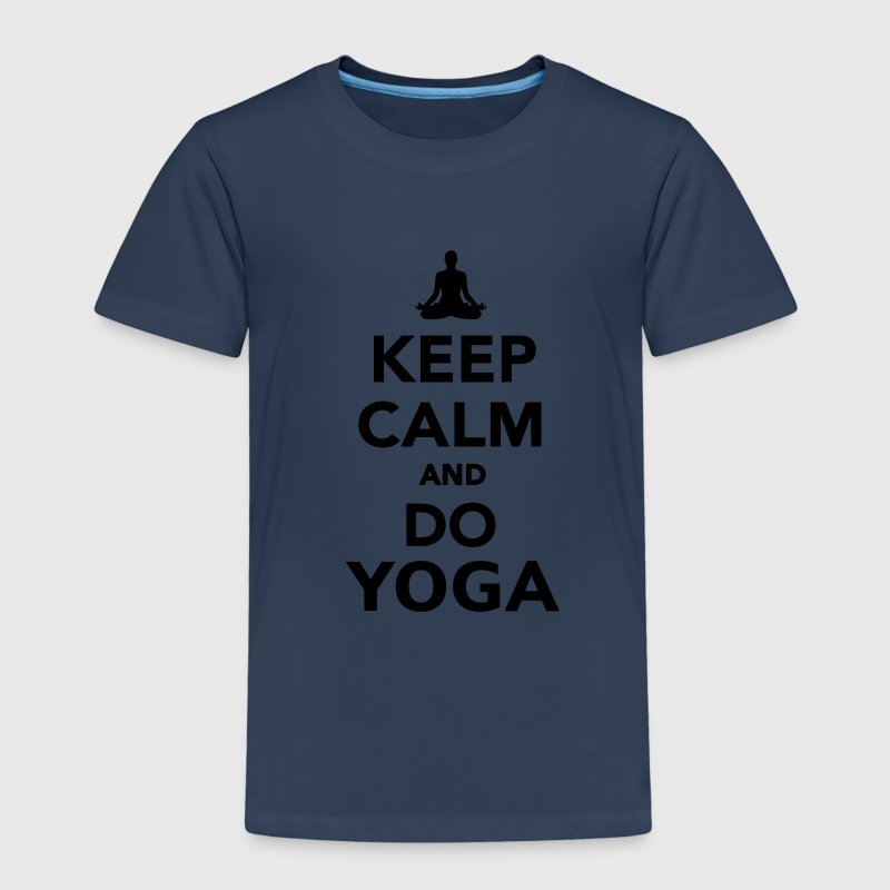 Keep calm and do Yoga T-Shirts - Kinder Premium T-Shirt