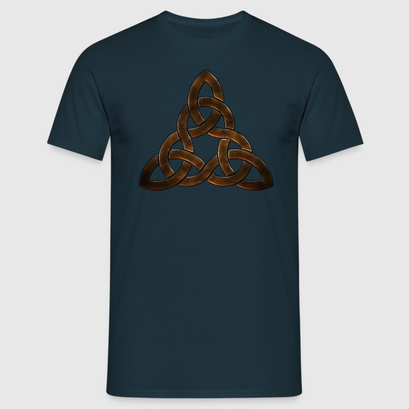 Leather Celtic Triskel.png Tee shirts - T-shirt Homme