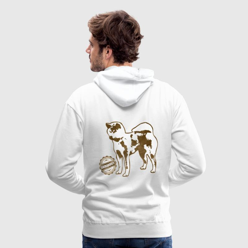 shibaddict_vintage_marron.png Sweat-shirts - Sweat-shirt à capuche Premium pour hommes