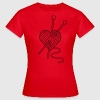 i love knitting yarn heart knit needlework T-Shirts - Women's T-Shirt