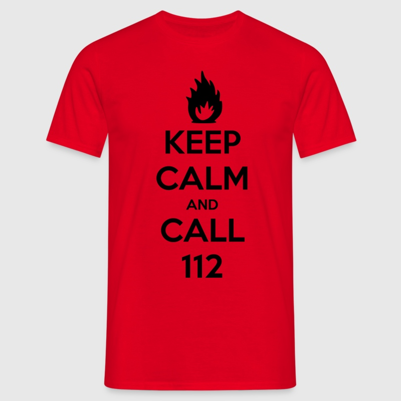 keep calm and call 112 T-Shirts - Männer T-Shirt