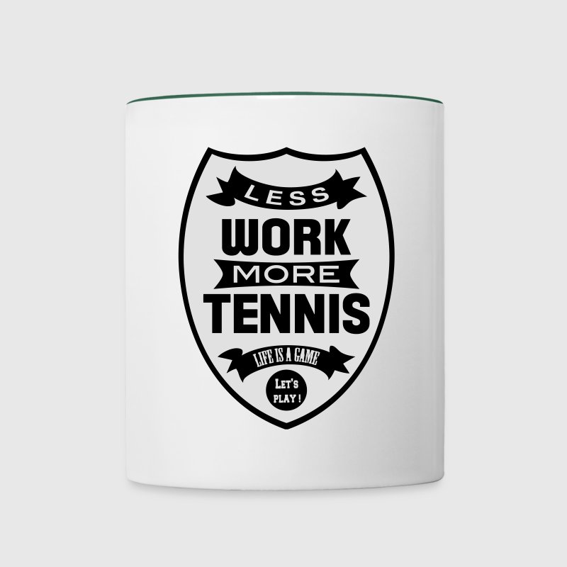 Less work more Tennis Flessen & bekers - Mok tweekleurig