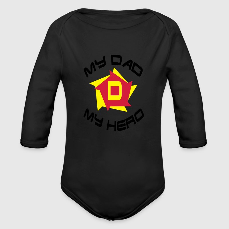 My dad my hero Pullover & Hoodies - Baby Bio-Langarm-Body