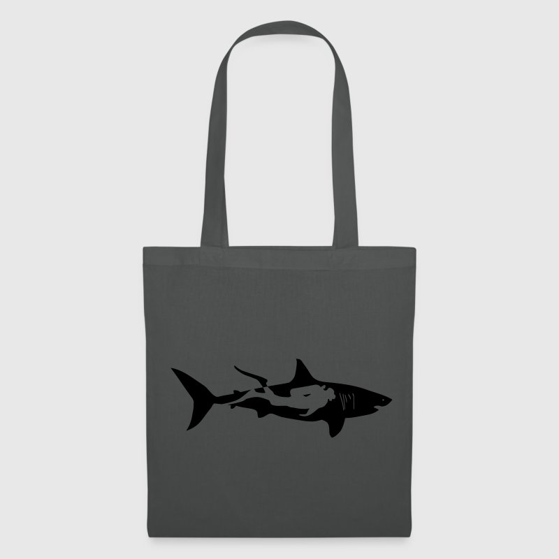scuba diving diver shark jaws whale dolphin Bags & backpacks - Tote Bag