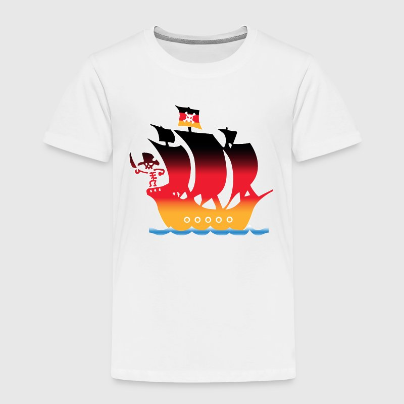 piratenschiff deutschland flagge T-Shirts - Kinder Premium T-Shirt