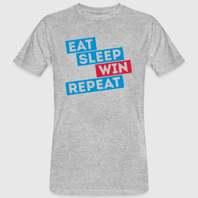 eat sleep win repeat winter sports football games T-Shirts - Men's Organic T-shirt