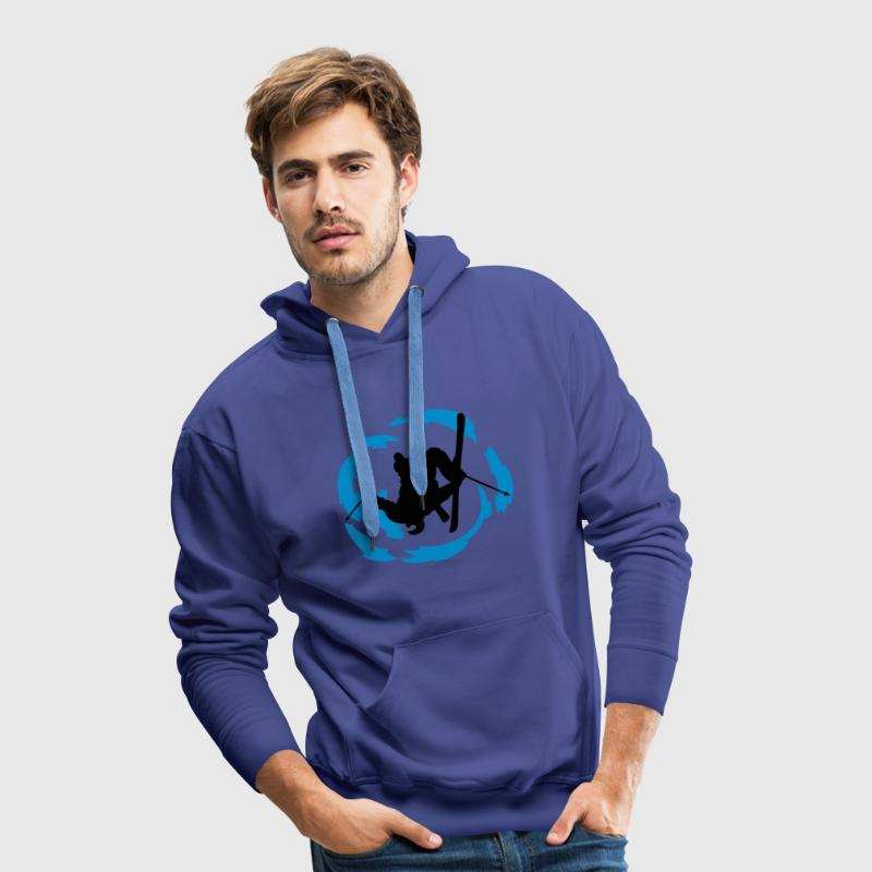 ski freestyle Sweat-shirts - Sweat-shirt à capuche Premium pour hommes