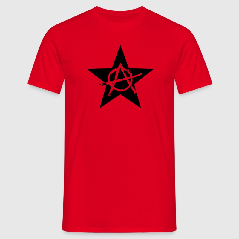 Star Anarchy chaos rebel revolution protest black  T-Shirts - Men's T-Shirt