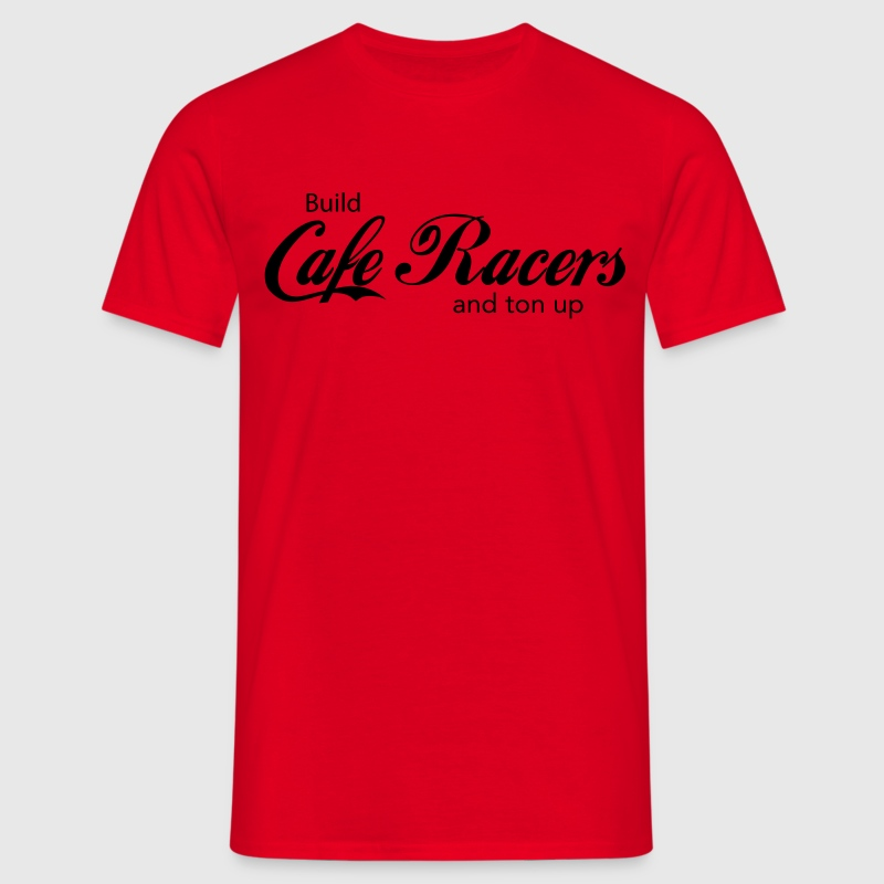 Build Cafe Racers and Ton Up CafeRacersUnited.com T-shirts - Mannen T-shirt