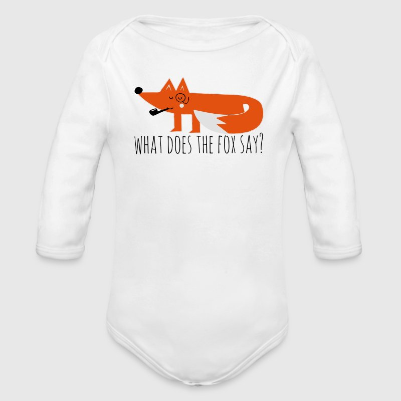 Grappige Hipster Swag Trendy comic cartoon vos Sweaters - Baby bio-rompertje met lange mouwen