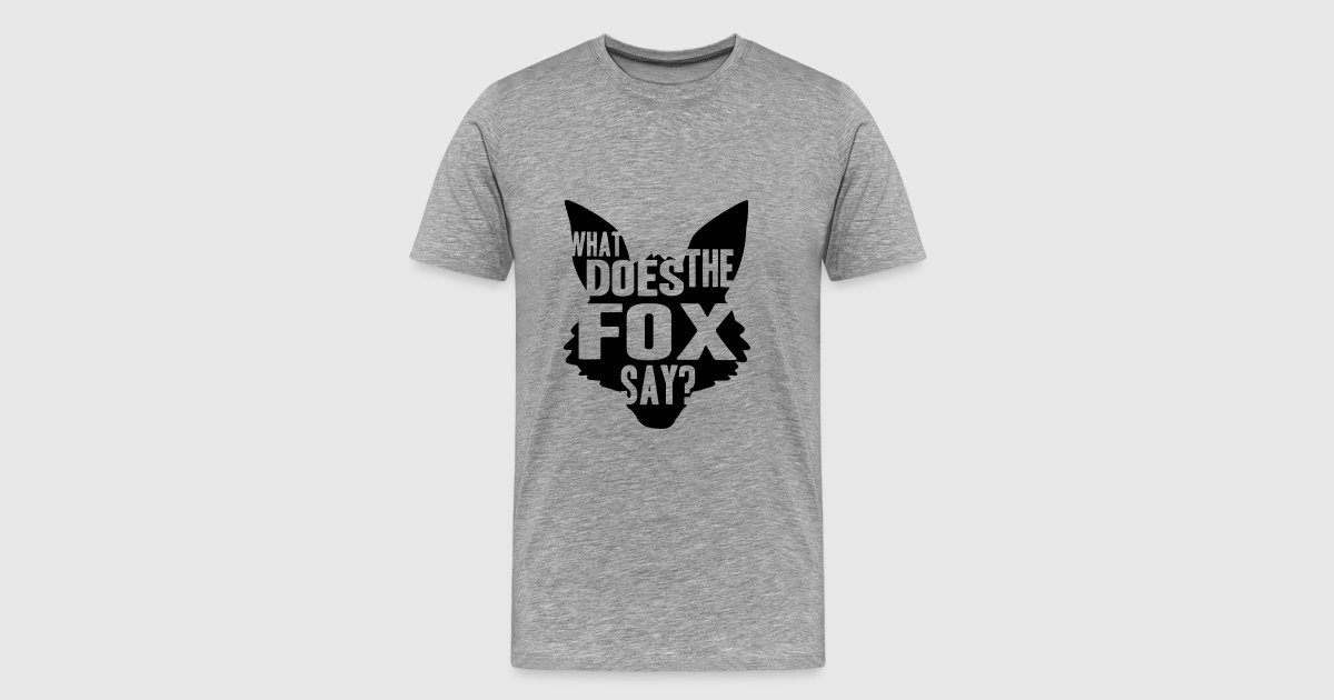 What does the fox say logo design t shirt spreadshirt for One color t shirt design inspiration
