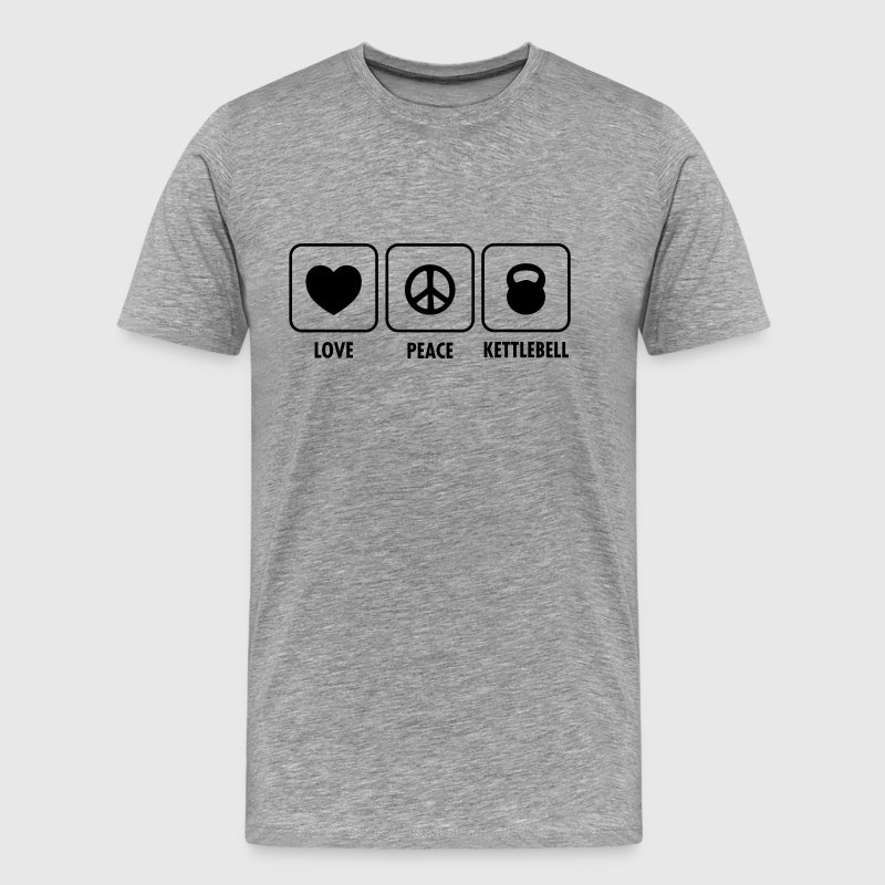 Love, Peace, Kettlebell T-Shirts - Men's Premium T-Shirt