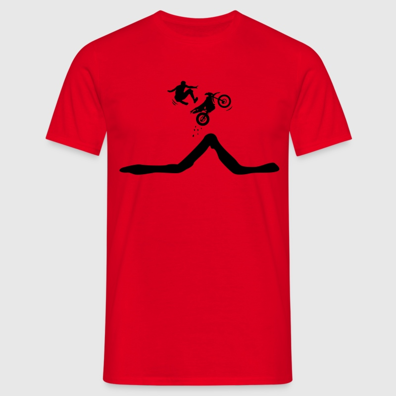 Enduro jump with descent of the driver  T-Shirts - Men's T-Shirt