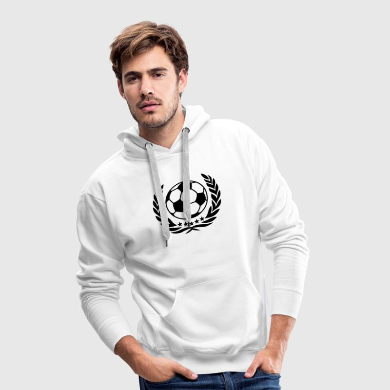 World champion football soccer laurel wreath ball  - Männer Premium Hoodie