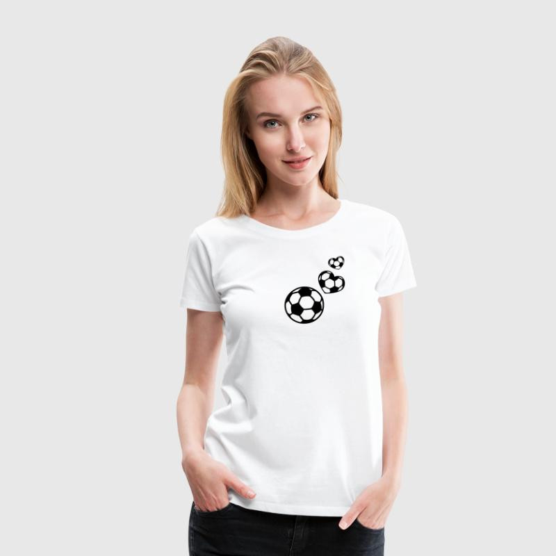 Soccer Football I Heart like love world champion T-shirts - Dame premium T-shirt