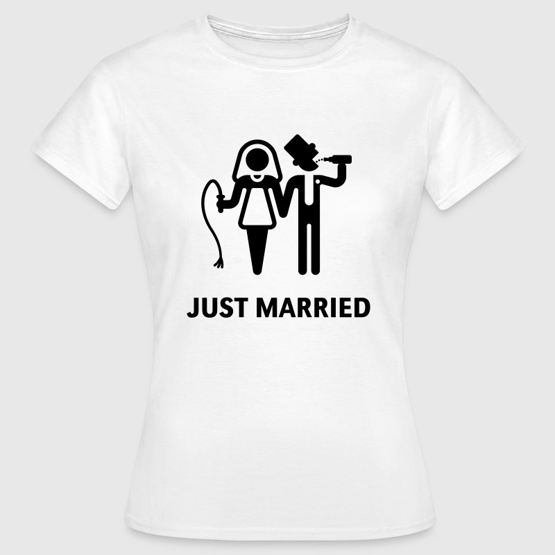 Just Married (Peitsche und Bier) T-Shirt - Frauen T-Shirt