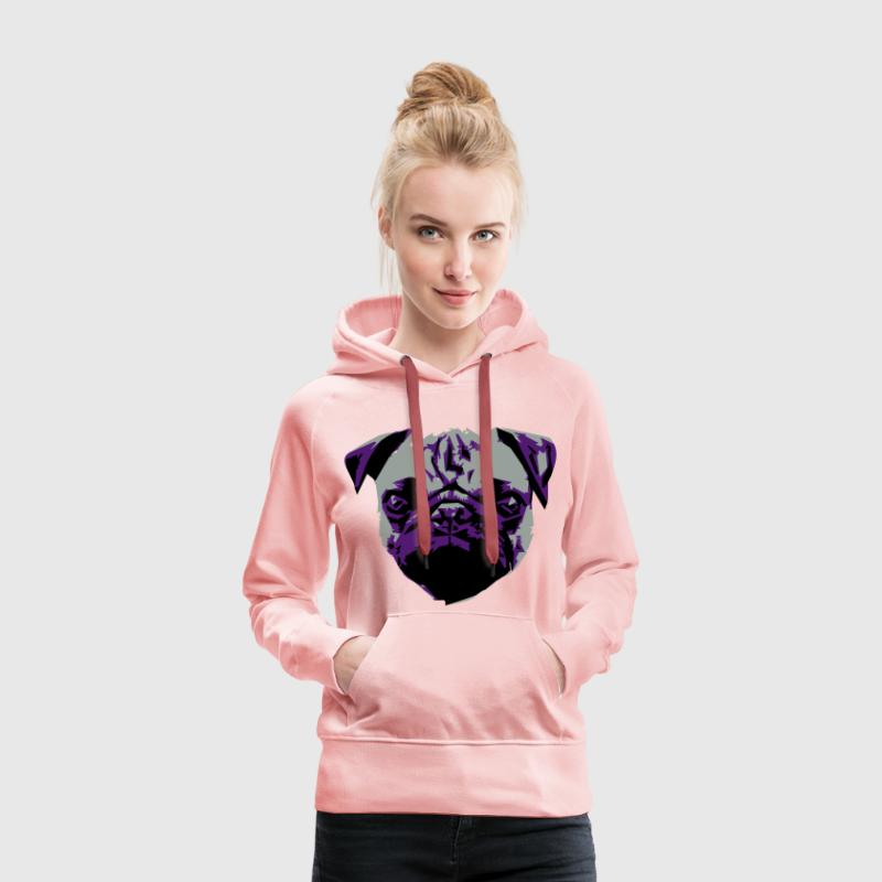 Pug Sweat-shirts - Sweat-shirt à capuche Premium pour femmes
