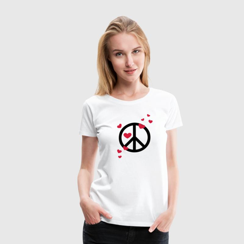 Peace Heart Love Freedom Symbol Summer Hippie T-Shirts - Women's Premium T-Shirt