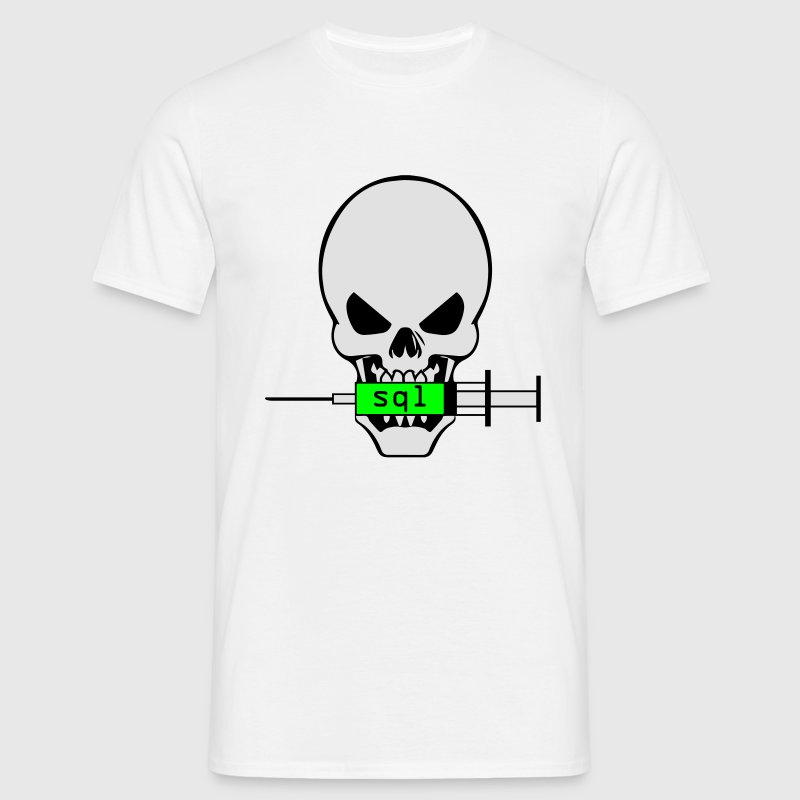 Skull SQL Injection T-Shirts - Men's T-Shirt