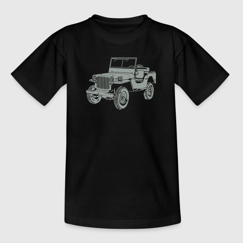 Jeep Willys Overland Offroad 4x4 T-Shirt T-Shirts - Teenager T-Shirt