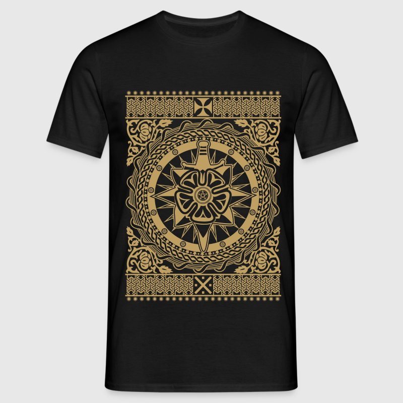 Intricate Ornament Gold - Men's T-Shirt
