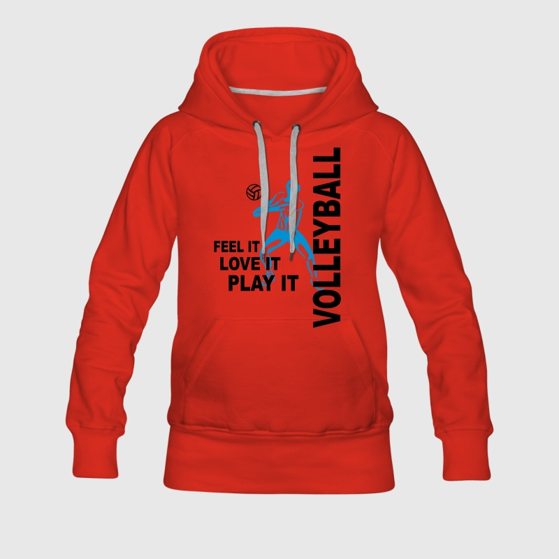 Volleyball - feel it love it play it Pullover & Hoodies - Frauen Premium Hoodie