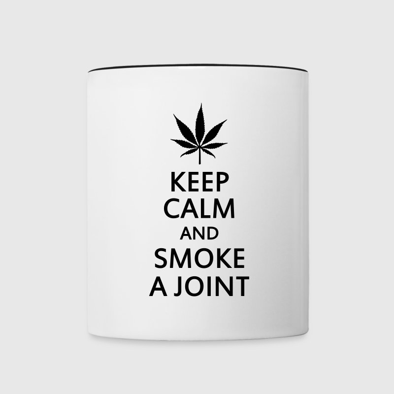 keep calm and smoke a joint Bottles & Mugs - Contrasting Mug