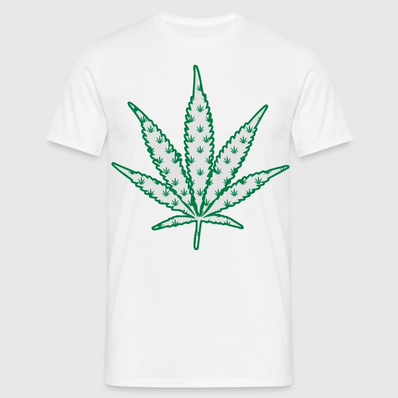 T-Shirt cannabis logo multiple vert - T-shirt Homme