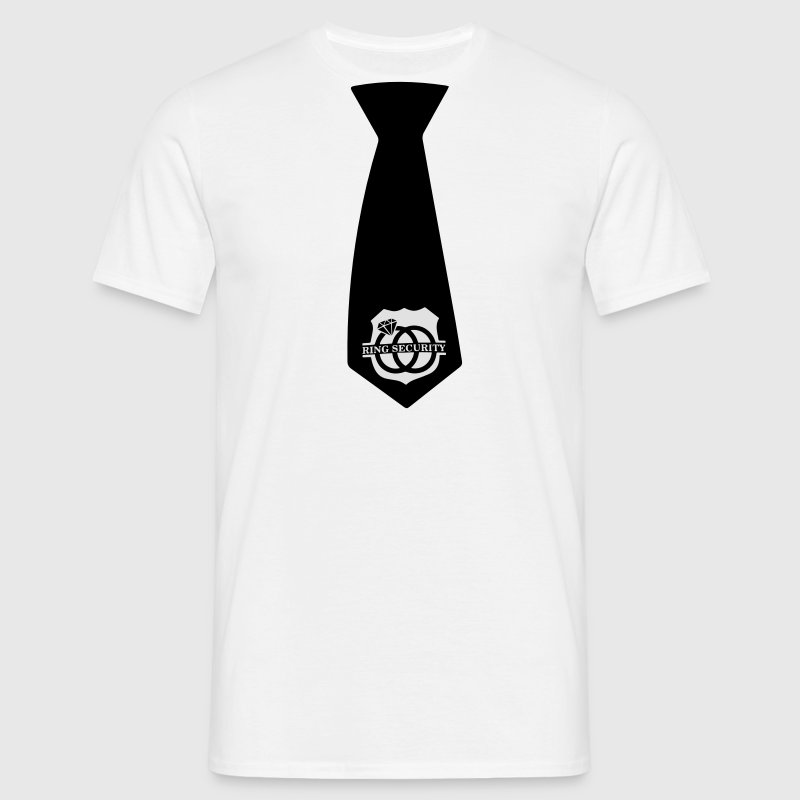 Ring Security Stropdas T-shirts - Mannen T-shirt