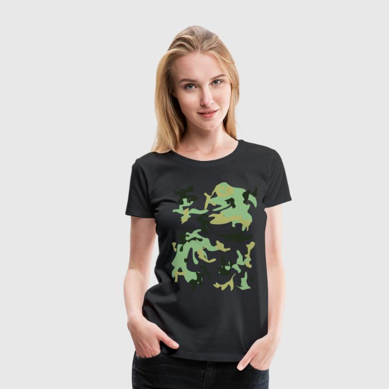 Camouflage  T-shirts - Dame premium T-shirt