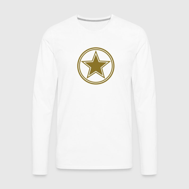 Star gold gift birthday Military Army circle team Tee shirts manches longues - T-shirt manches longues Premium Homme