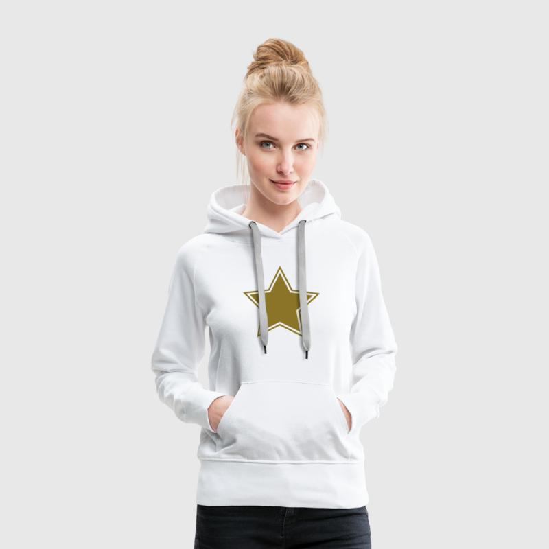 Star gold gift birthday champion boss chief winner Felpe - Felpa con cappuccio premium da donna