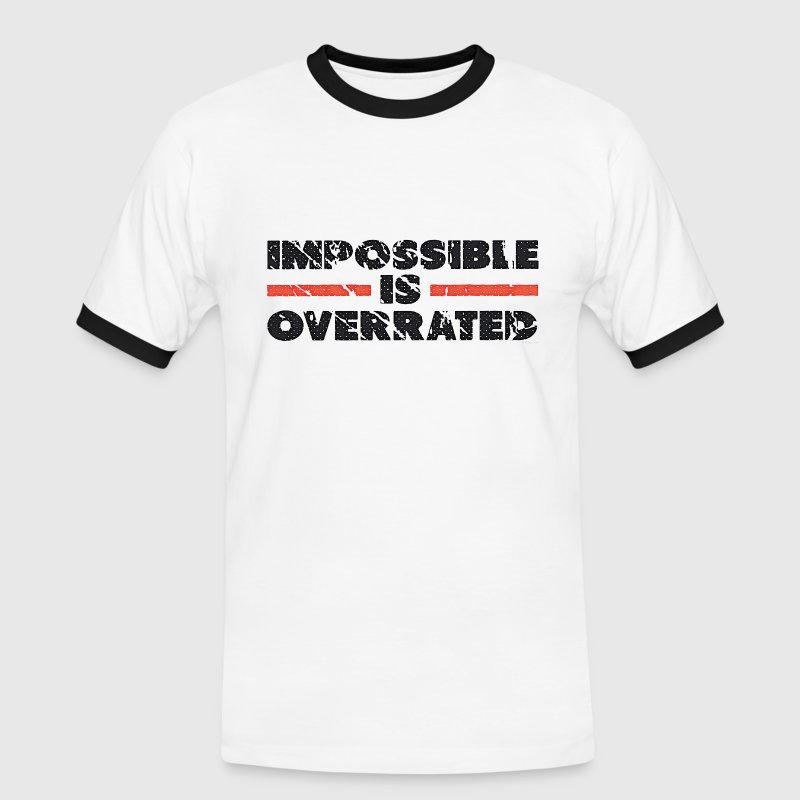 Impossible Is Overrated - Retro T-paidat - Miesten kontrastipaita
