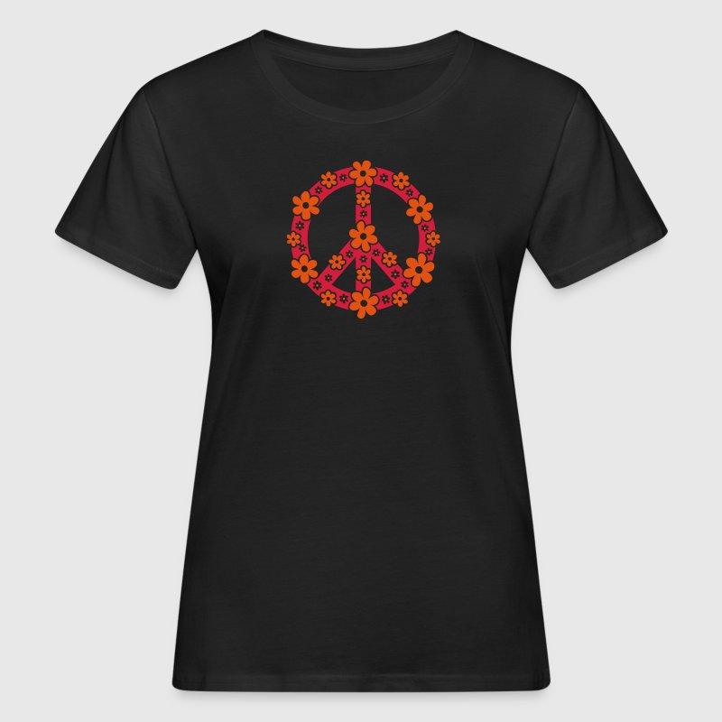 Tee shirt peace symbol paix signe libert amour fleur for Hippie t shirts australia