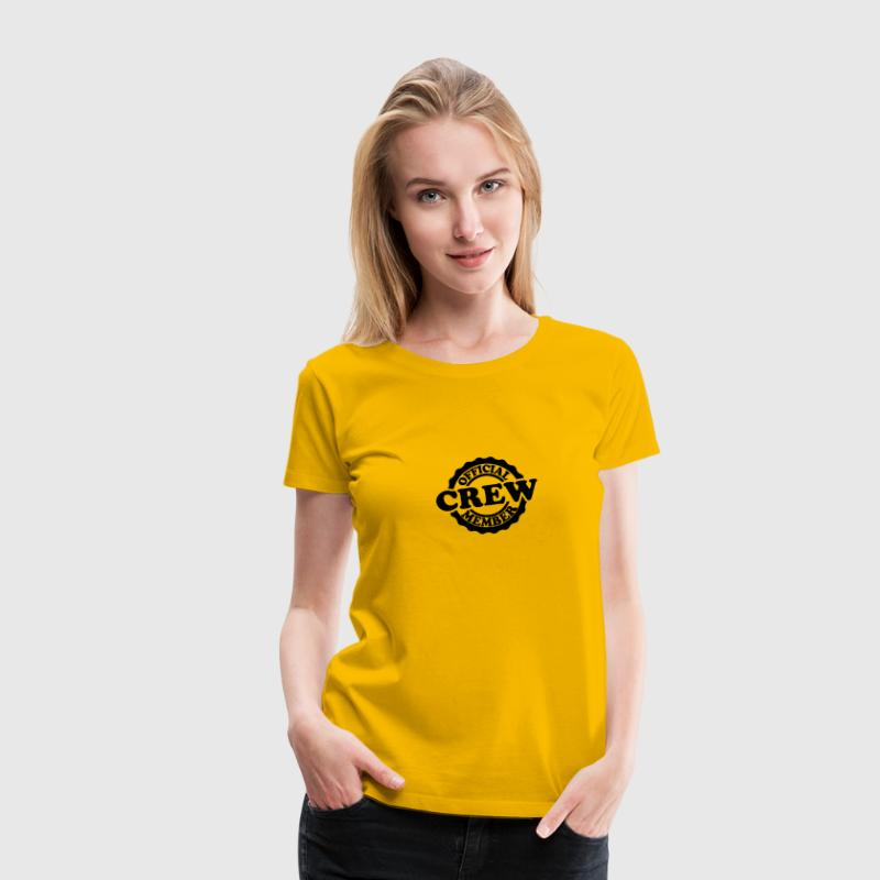 Cool Official Crew Member Stamp T-Shirts - Women's Premium T-Shirt