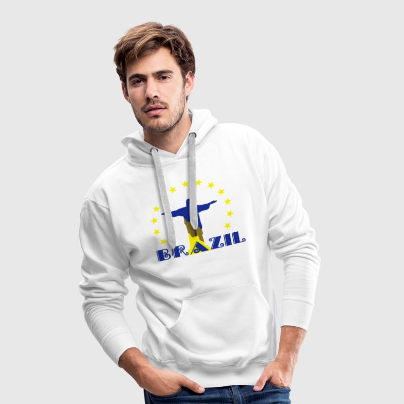 Brazil Brasil Christ star football world champion Sweat-shirts - Sweat-shirt à capuche Premium pour hommes