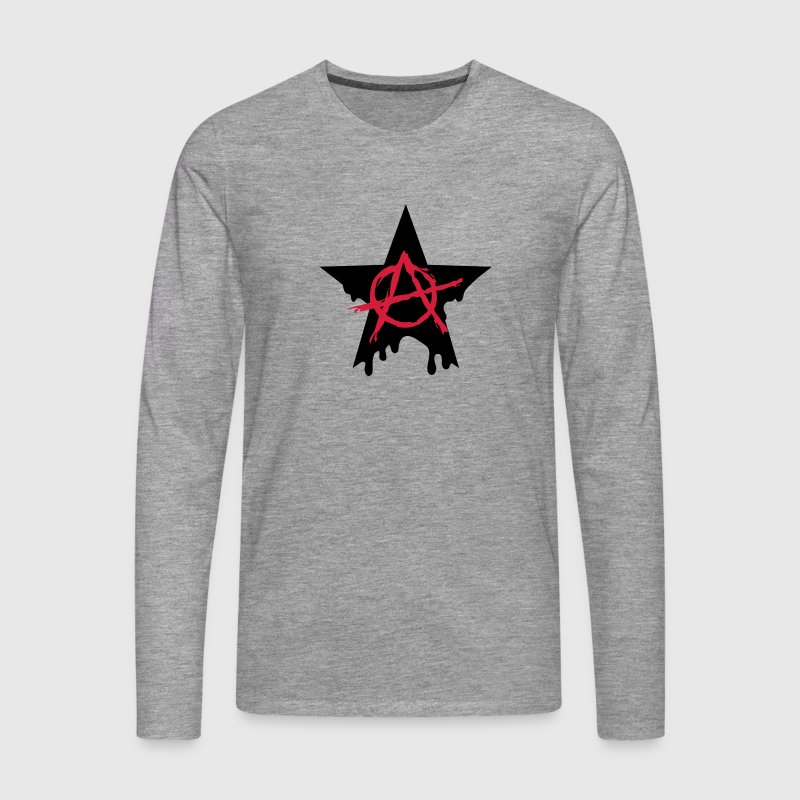 Anarchy star chaos symbol rebel revolution punk Tee shirts manches longues - T-shirt manches longues Premium Homme
