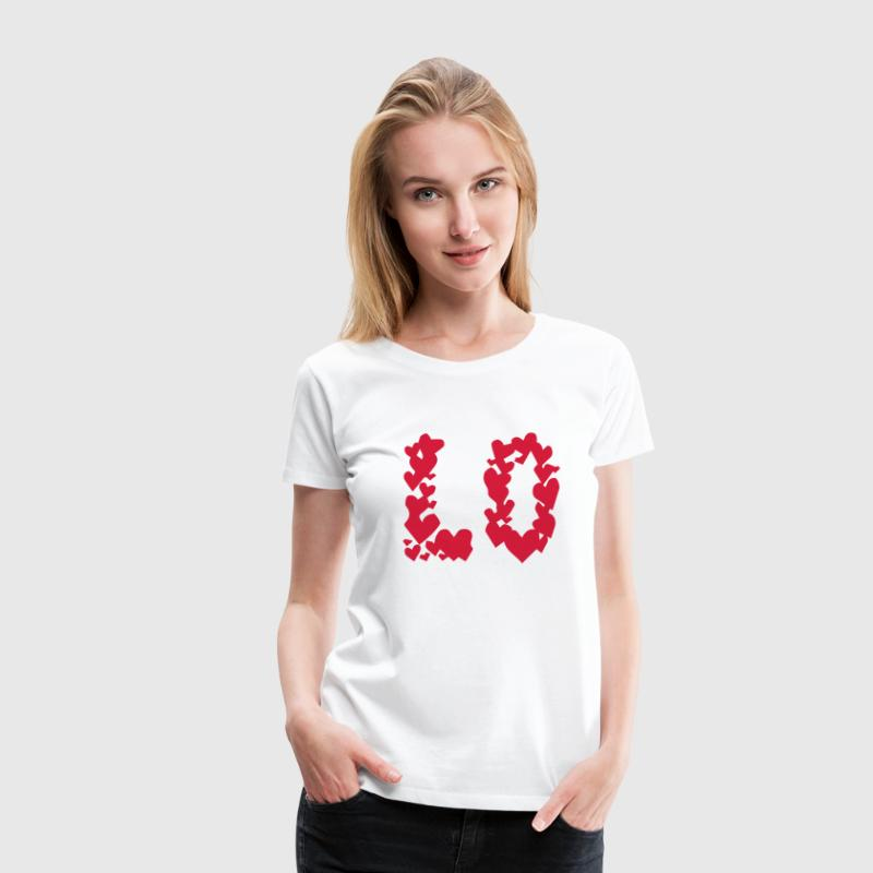 LOVE couple pair partner Heart Valentines Day gift Tee shirts - T-shirt Premium Femme