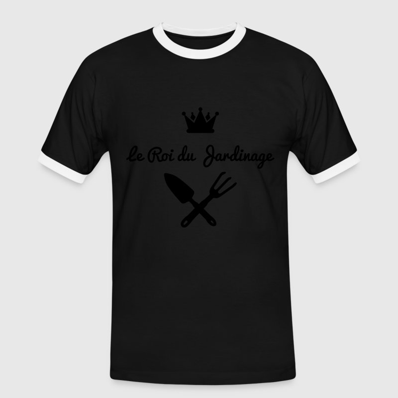 roi jardinage version 1 Tee shirts - T-shirt contraste Homme