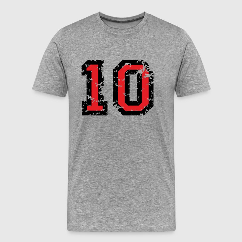The Number Ten - No. 10 (two-color) red T-Shirts - Men's Premium T-Shirt