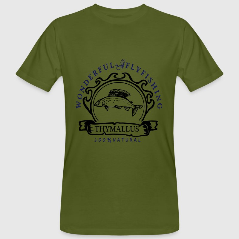 Wonderful Flyfishing Äsche - Männer Bio-T-Shirt