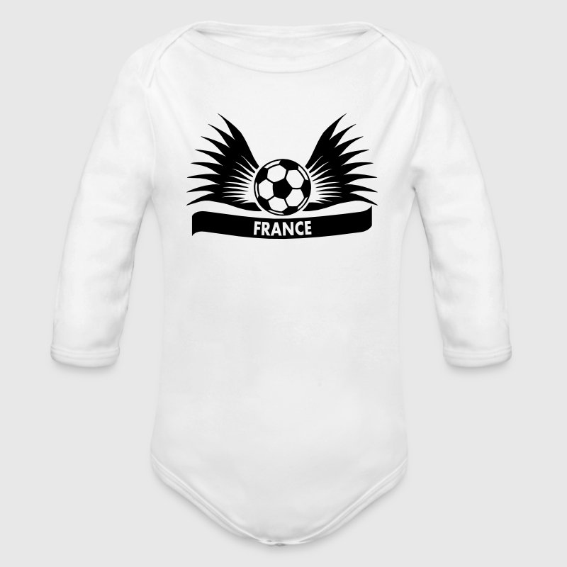 france / Équipe de France football Sweats - Body bébé bio manches longues